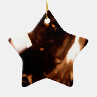 El cristal abstracto refleja el triángulo ornamentos de reyes magos