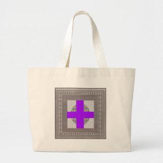 El cristal blanco de la chispa cruzada púrpura bolsa de mano