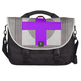 El cristal blanco de la chispa cruzada púrpura bolsas de portátil
