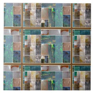 El cristal grabado en relieve ajusta el gráfico azulejo cuadrado grande