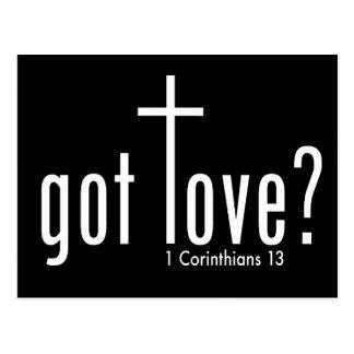 """El cristiano """"consiguió amor?"""" Postal"""