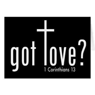 """El cristiano """"consiguió amor?"""" Tarjeta doblada"""