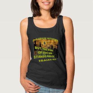 El cristiano de Withers de la hierba religioso Camiseta De Tirantes Básica