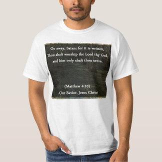 El cristiano va verso ausente de Satan Camiseta