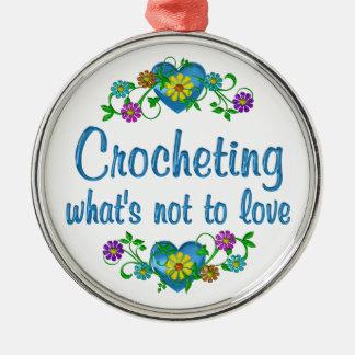 El Crocheting al amor Adorno
