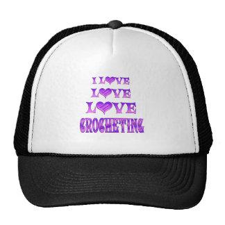 El Crocheting del amor del amor Gorras De Camionero