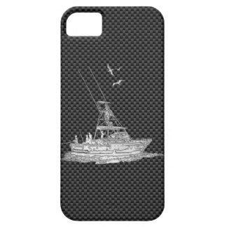 El cromo de plata tiene gusto del barco de pesca iPhone 5 Case-Mate fundas