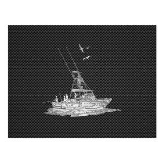 El cromo tiene gusto del barco de pesca en fibra postal