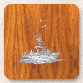 El cromo tiene gusto del barco de pesca en la posavasos