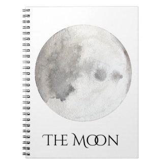 El cuaderno de la acuarela del planeta de la luna