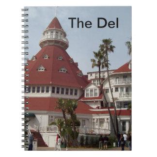 El cuaderno del hotel de Del Coronado
