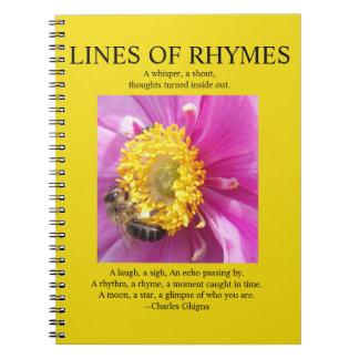 El cuaderno del poeta, líneas de amarillo de las