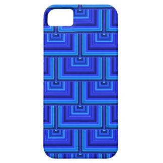 El cuadrado de las rayas azules escala el modelo funda para iPhone SE/5/5s