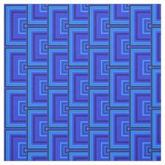 El cuadrado de las rayas azules escala el modelo telas