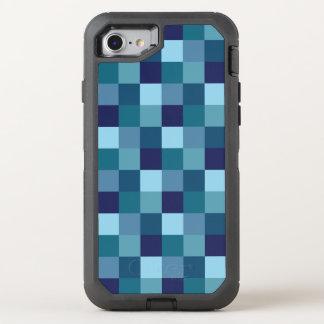 El cuadrado del azul de océano teja la caja de funda OtterBox defender para iPhone 7