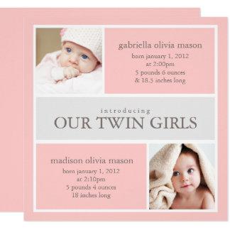 El cuadrado hermana la invitación del nacimiento