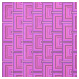 El cuadrado rosado de las rayas escala el modelo telas