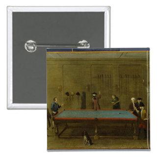 El cuarto de billar (aceite en lona) chapa cuadrada 5 cm