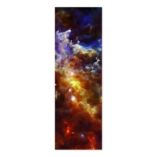 El cuarto de niños estelar de la nebulosa del rose tarjetas personales