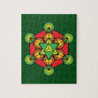El cubo Merkaba de Metatron Puzzle