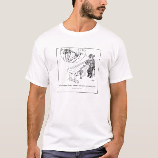 El cuchillo articula la camiseta del dibujo