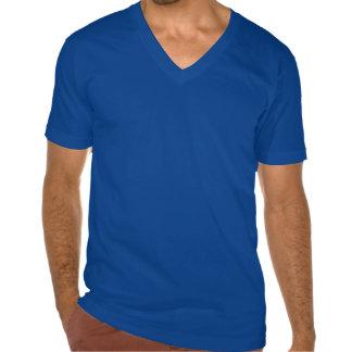 El cuello en v de los hombres sea nuestra camisa d