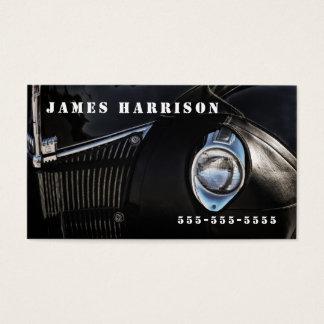 El cuero temático automotriz agrieta el coche tarjeta de visita