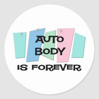 El cuerpo auto es Forever Etiquetas Redondas