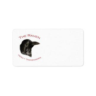 El cuervo etiqueta de dirección