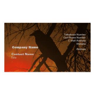 El cuervo Halloween Plantillas De Tarjetas Personales