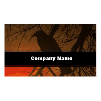 El cuervo Halloween Tarjeta De Visita