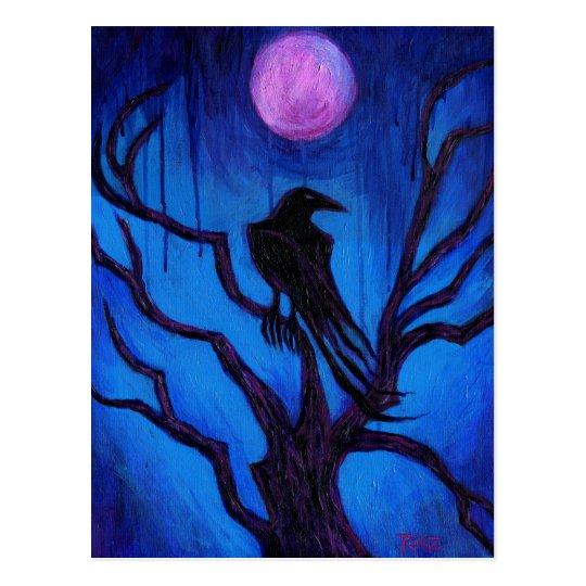 El cuervo nunca más postal