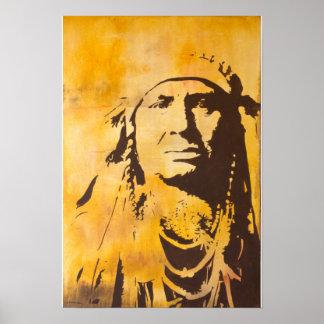 El cuervo que el jefe de la pintura dio derecho póster
