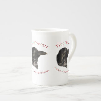 El cuervo taza de porcelana