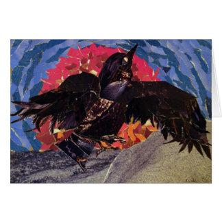 El cuervo toma vuelo tarjeta de felicitación