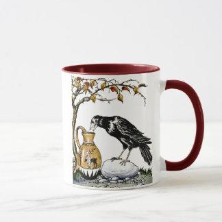 El cuervo y la taza de la jarra