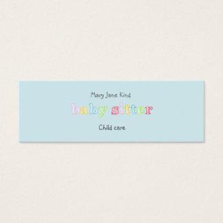 El cuid losar nin¢os y cuidado de niños - tarjeta de visita pequeña