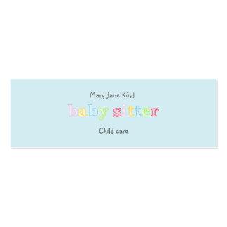 El cuid losar nin¢os y cuidado de niños - tarjetas de visita mini