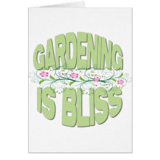 El cultivar un huerto es regalos de la dicha tarjeta de felicitación