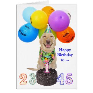 El cumpleaños adaptable del niño joven tarjeta de felicitación