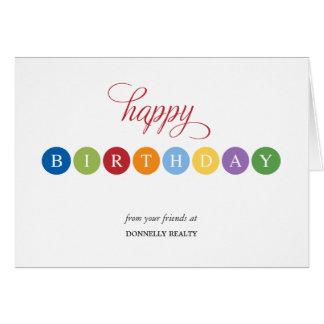 El cumpleaños burbujea las tarjetas de cumpleaños