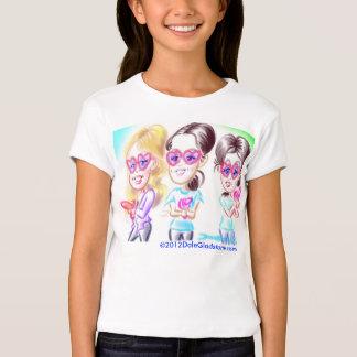 El cumpleaños Caricatures la camiseta