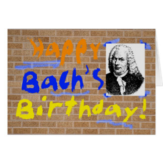 El cumpleaños de Bach Tarjeta