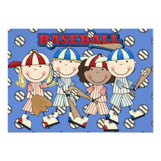El cumpleaños de encargo del béisbol invita (los anuncios