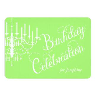El cumpleaños de encargo elegante de la lámpara invitación 12,7 x 17,8 cm