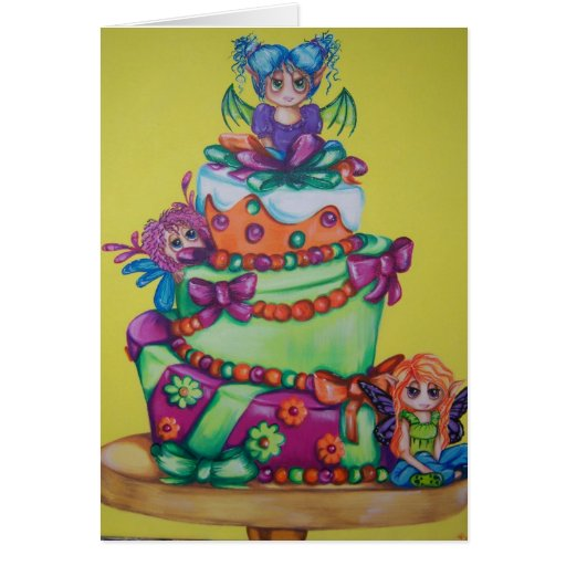 El cumpleaños de hadas de la celebración desea Not Felicitación