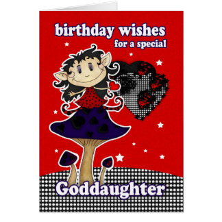 el cumpleaños de la ahijada desea la tarjeta de fe