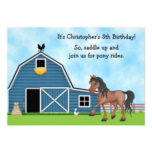 El cumpleaños de la equitación de los paseos del p anuncios personalizados