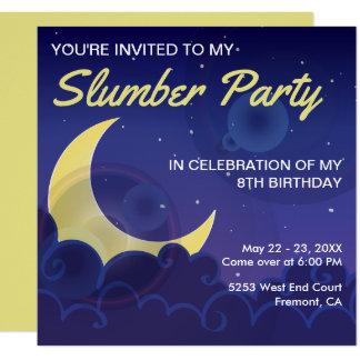El cumpleaños de la fiesta de pijamas del fiesta invitación 13,3 cm x 13,3cm
