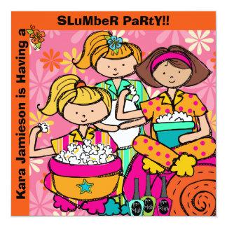 El cumpleaños de la fiesta de pijamas modificado invitación 13,3 cm x 13,3cm